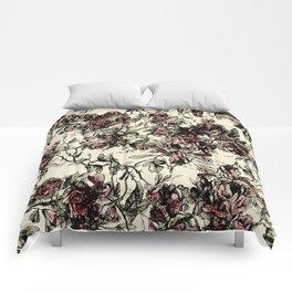 vintage rose Comforters