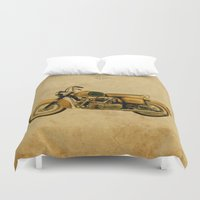 ducati Duvet Covers featuring Ducati Apollo 1963 by Larsson Stevensem