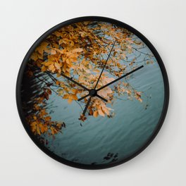 Autumn Copper + Teal Wall Clock