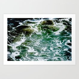 Impact Zone Abstract Art Print