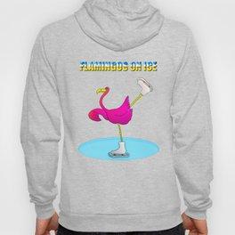 Flamingos on ice Hoody