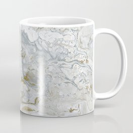 Marbled Castle - Elegant Abstract in Silver, White, and Gold Coffee Mug