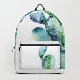 Watercolor Prickly-Pear Cactus Backpack
