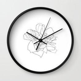 Single rose illustration - Magda Wall Clock