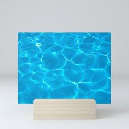 Azure Swimming pool Mini Art Print