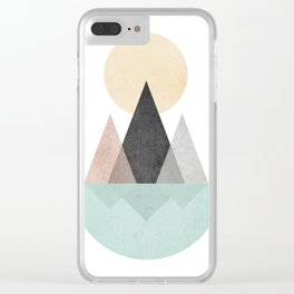 Minimalist Landscape XX Clear iPhone Case