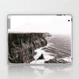 Cliffs of Mohr Ireland Black And White Laptop & iPad Skin