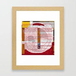 word pillow poems 01 Framed Art Print