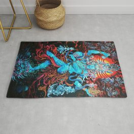 Lord Shiva The Destroyer Rug
