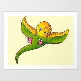 Little Green Parakeet Art Print