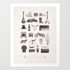 The Desert Rocker Kit Art Print