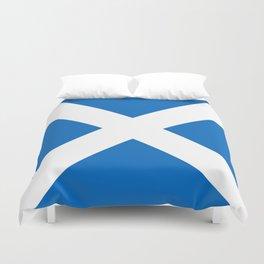 flag of scotland – scotland,scot,scottish,Glasgow,Edinburgh,Aberdeen,dundee,uk,cletic,celts,Gaelic Duvet Cover