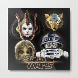 Cat Wars four Metal Print