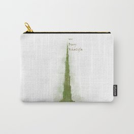 Burj Khalifa, Dubai, Emirates in WaterColor Green Carry-All Pouch