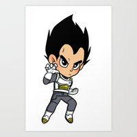 vegeta Art Prints featuring Vegeta ROF by LexieArtz