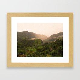 Himalayan Fog - Warmer Framed Art Print