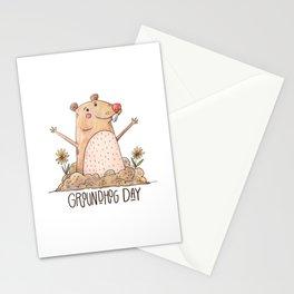 Happy National Groundhog Day Stationery Cards