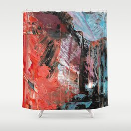 Emanate Abstract Acrylic Fine Art Shower Curtain
