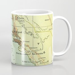 Vintage Map of San Francisco California (1905) Coffee Mug