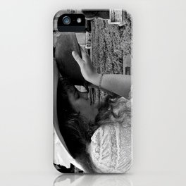 Gilded Memorial Black and White iPhone Case
