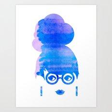 Curious Blue Art Print