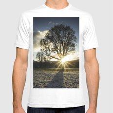A Winters Sunset Mens Fitted Tee White MEDIUM