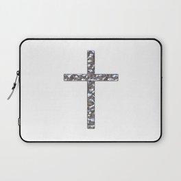 Chrome Crucifix Solid Laptop Sleeve