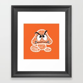 Goomba #CrackedOutBadGuys Framed Art Print