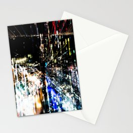 Night in the city Stationery Cards