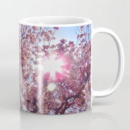 Pink Trumpet Flower Tree Coffee Mug