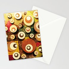 Colorful geometric application. Stationery Cards