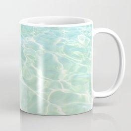 All Clear turquoise sea water, Abstract ocean beach, Minimal coastal Coffee Mug