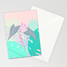 Modern tropical leaves print with monstera Stationery Cards