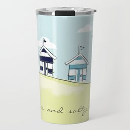 Bright Beach Huts Travel Mug