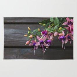 Fuchsia And Wood Rug
