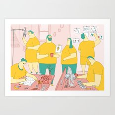Superdoodle Art Print