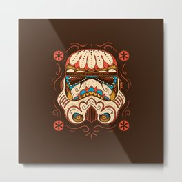 Sugar Skull Trooper Metal Print