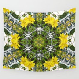 Kaleidoscope of showy St Johns Wort Wall Tapestry