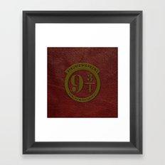 Logo Platform 9 3/4 Framed Art Print