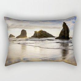 Wizards Hat Sunset / Bandon Beach Rectangular Pillow