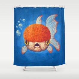 Grumpy Goldfish Shower Curtain