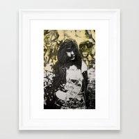 jenna kutcher Framed Art Prints featuring JENNA by JESSE OLWEN
