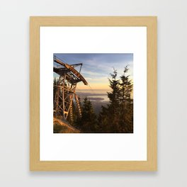 Grouse mountain Framed Art Print