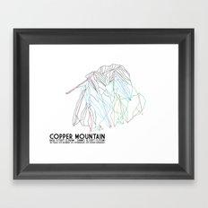 Copper Mountain, CO - Minimalist Trail Art Framed Art Print