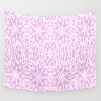 floral pattern Wall Tapestries featuring floraL pattern Lavender by 2sweet4words Designs