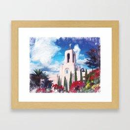 Newport Beach California LDS Temple Framed Art Print