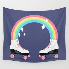 rainbow rollerskates Wall Tapestry