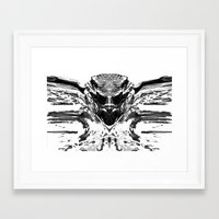 monster high Framed Art Prints featuring High Contrast Beach Monster by Christine Weetman