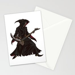 Grim Reaper Guitarist | Heavy Metal Festival Music Stationery Cards