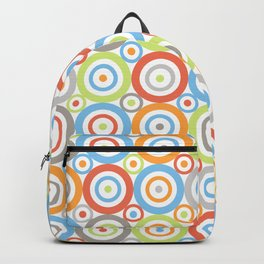Abstract Circles Pattern Color Mix & Greys Backpack
